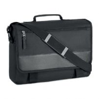 "13"" Messenger Laptop Shoulder Bag - Black"